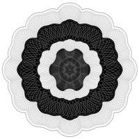 Kotylion Czarno-Biały